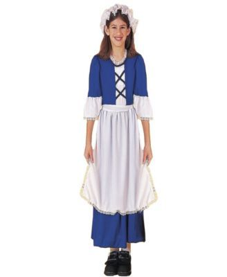 Colonial Miss Girls Costume Assorted Products Pinterest