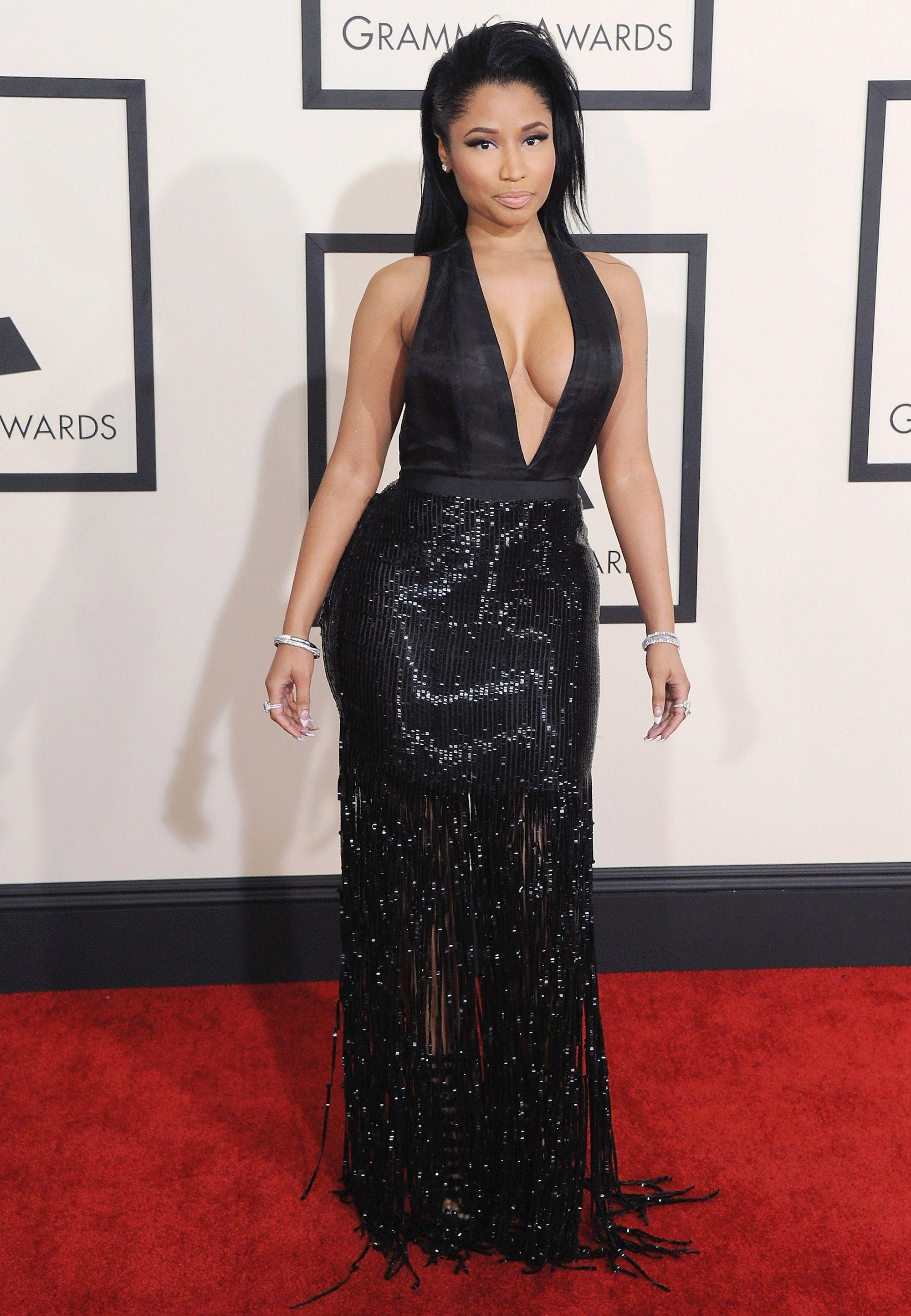 46723f7a72f Nicki Minaj on the red carpet at the Grammy Awards on Feb. 8