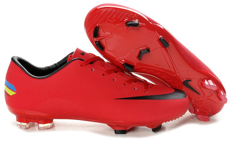 new arrival 8b318 a876f Nike Mercurial Victory VIII TPU FG Soccer Cleats Red Black