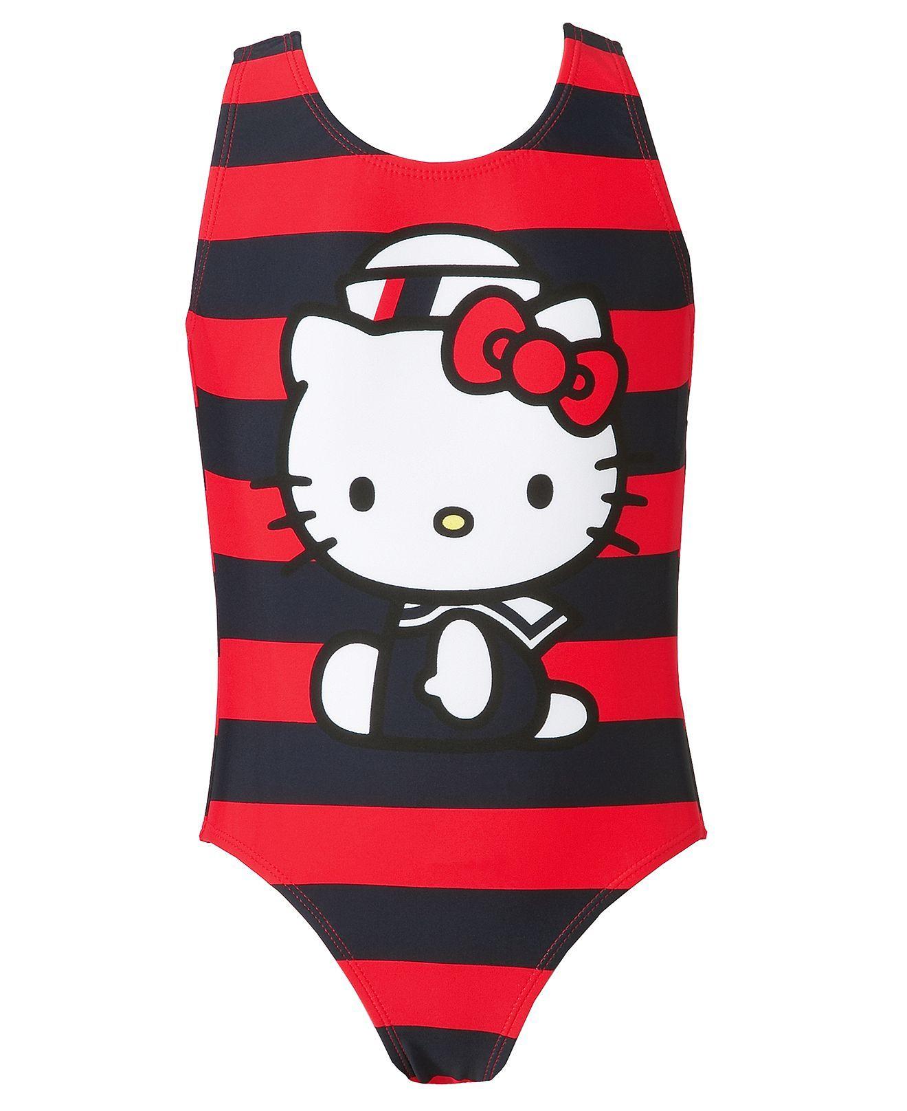 Hello Kitty Kids Swimwear Little Girls Nautical Printed