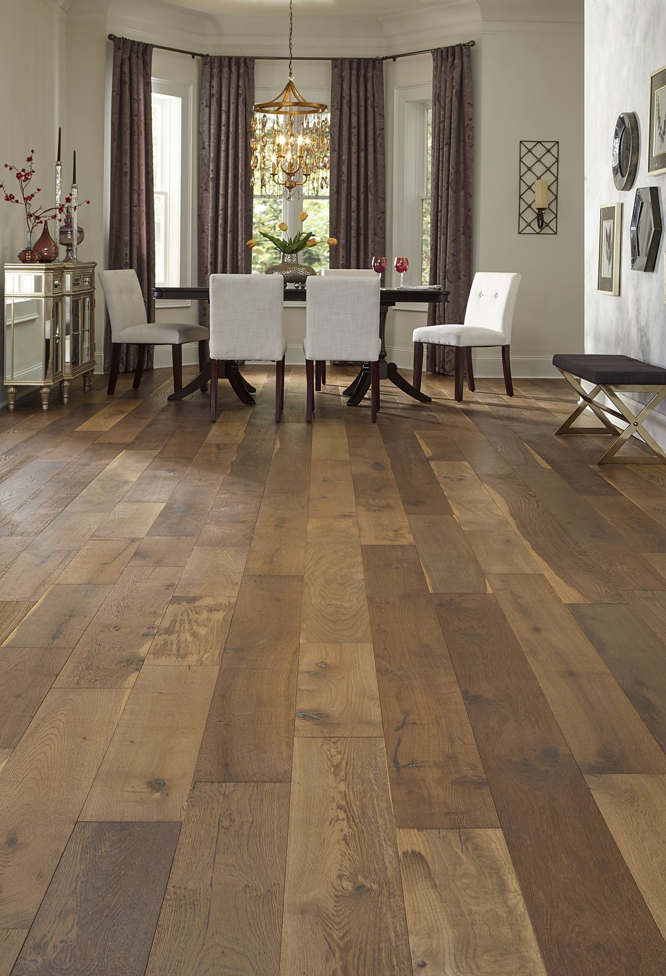 Bellawood Willow Manor Oak Offers Extra Wide 7 1 2 Planks And A Fumed Rustic Look Accented By Sawn Marks Wood Floors Wide Plank Bamboo Wood Flooring Flooring