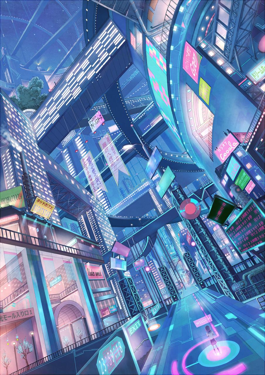 retrofuturistic, future city, cyberpunk, neon, colorful