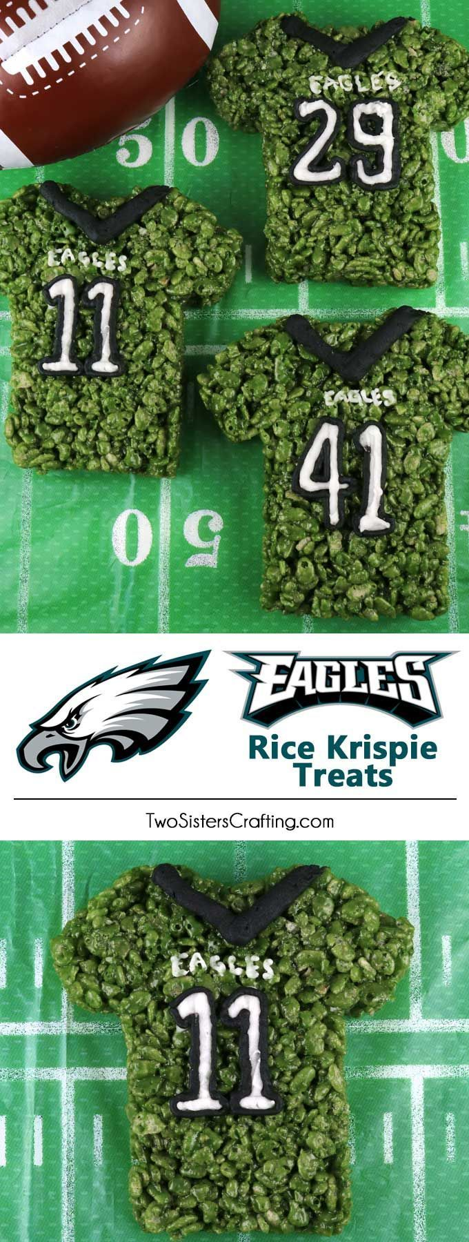 Philadelphia Eagles Rice Krispie Treats #footballpartyfood