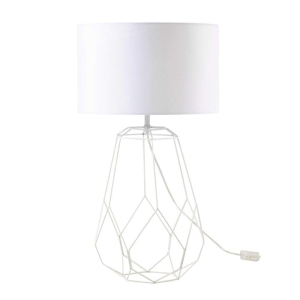 uac lampe en mtal blanc h cm origami with lampes de chevet. Black Bedroom Furniture Sets. Home Design Ideas