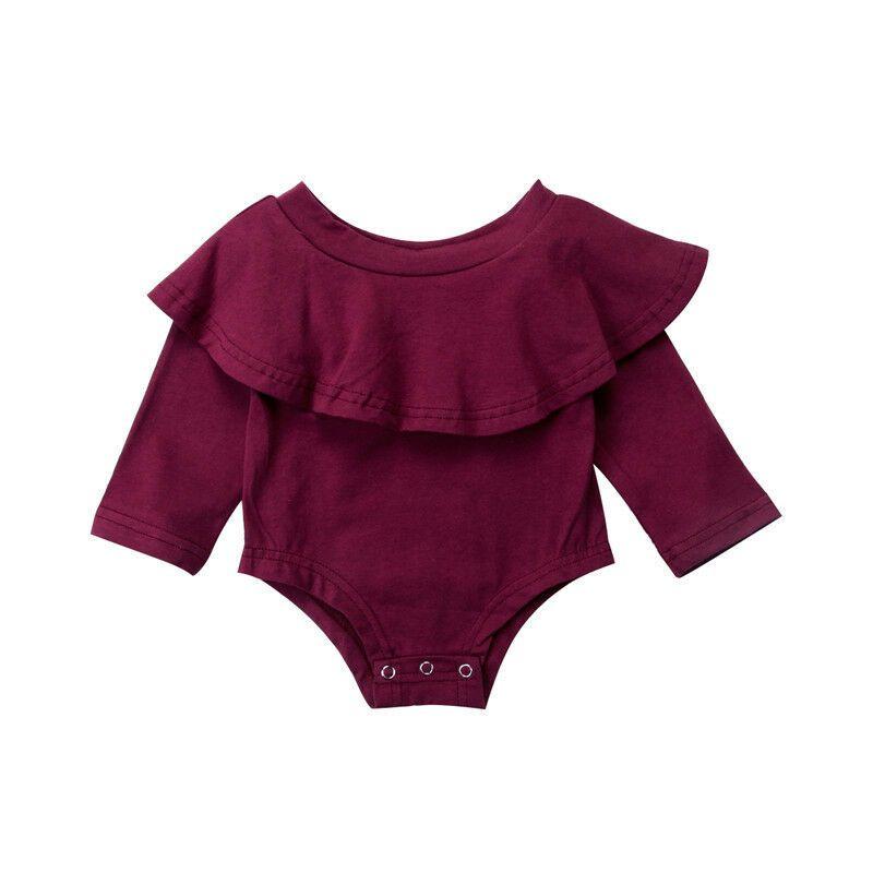 Toddler Kids Baby Girls Off Shoulder Romper Bodysuit Jumpsuit Outfits Clothes