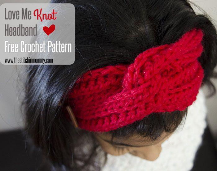 Love Me Knot Headband - Free Crochet Pattern | Crochet this | Pinterest