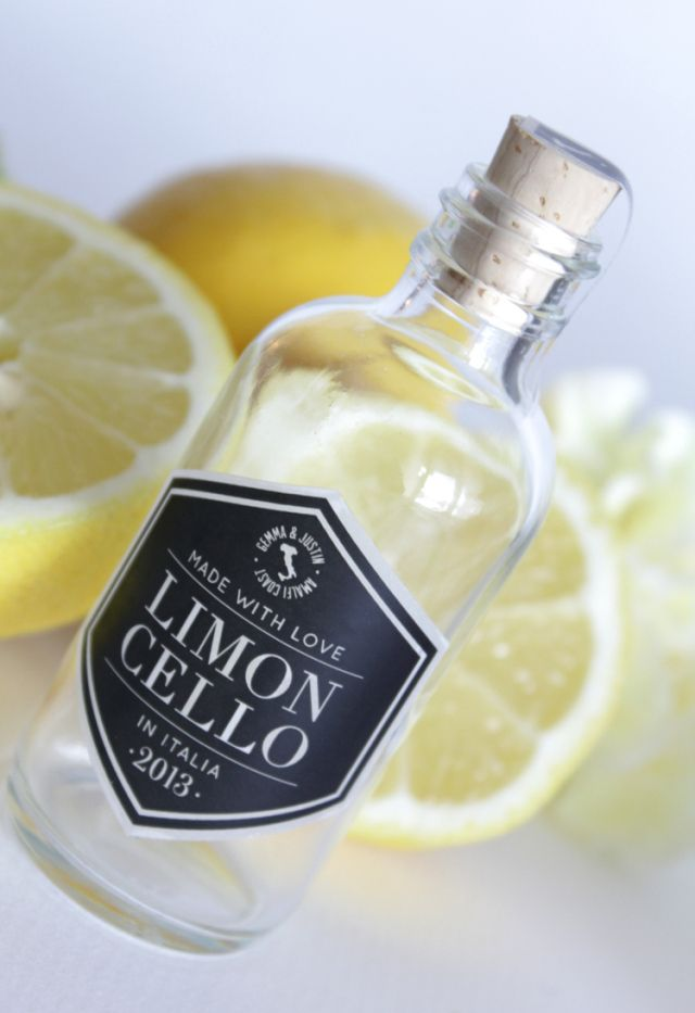 Wedding Limoncello Favor Stickers Limoncello Cheers Labels or Tags