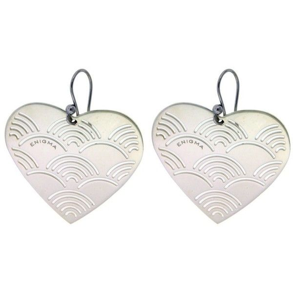 Pre Owned Bulgari Enigma Sterling Silver Heart Earrings 209 Liked On Polyvore