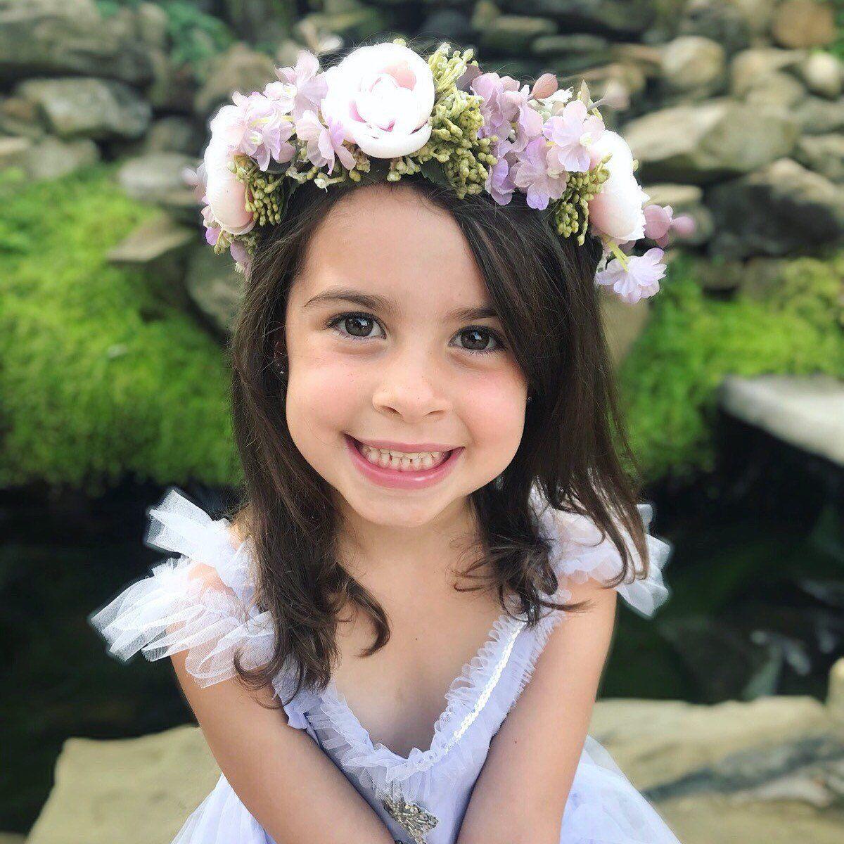 Flower girl crown flower crown flower girl hair flower girl flower crown purple wedding purple flower crown flower girl crown boho wedding izmirmasajfo