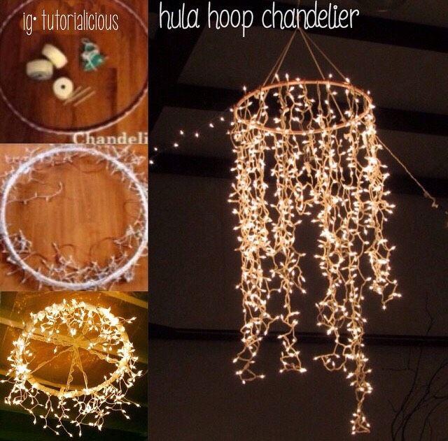 Diy Hula Hoop Chandelier 💖🔮