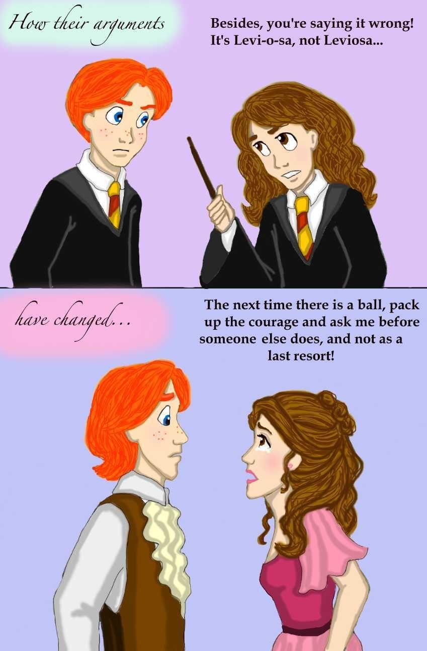 How Their Arguments Change By Dkcissner On Deviantart Harry Potter Pin Harry Potter Jokes