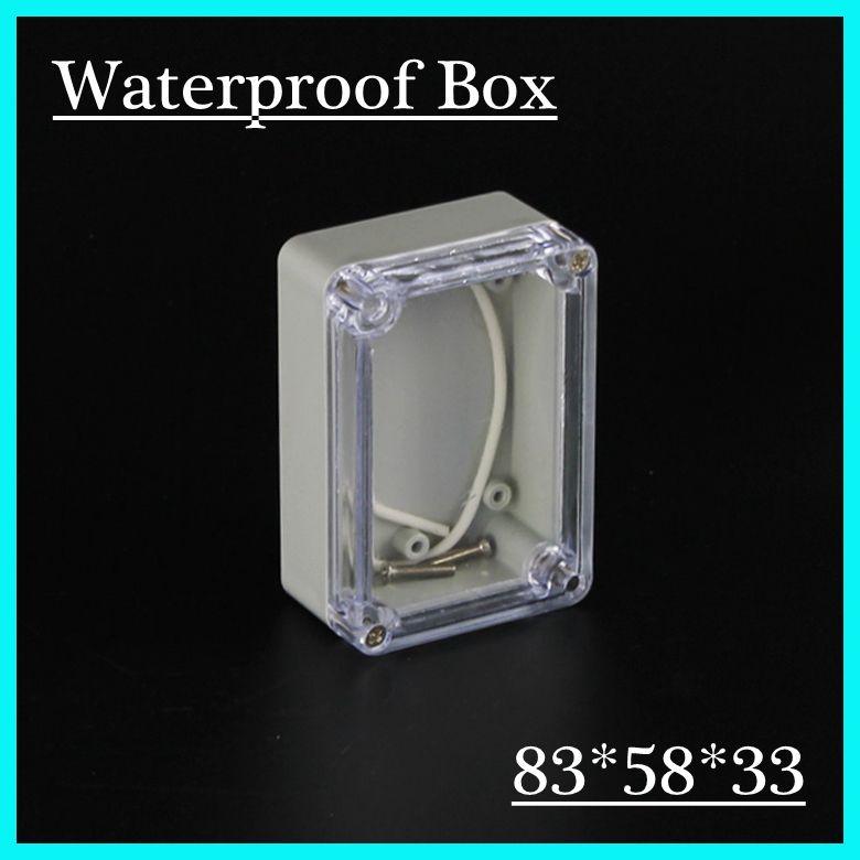 83 58 33mm Clear Cover Custom Electronics Enclosures Ip66 Waterproof Plastic Outdoor Enclosure Ab Cool Things To Buy Waterproofing Plastic Electronics Projects