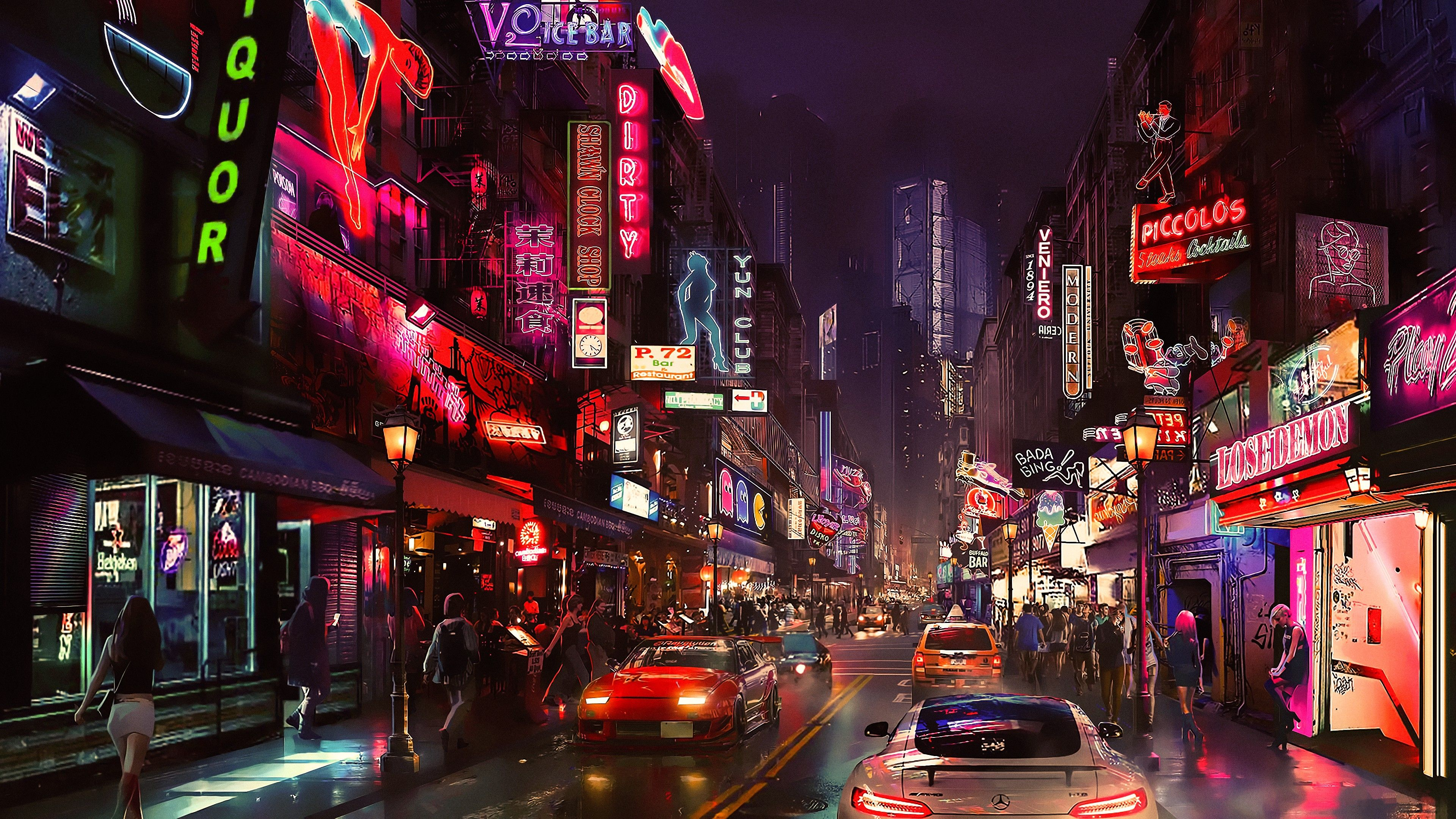 cyberpunk future world 4K 6413 Futuristic city