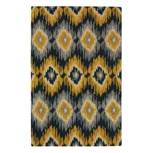 Delicieux Home Decorators Collection Diamond Ikat Yellow And Gray 9 Ft. 6 In. X 13