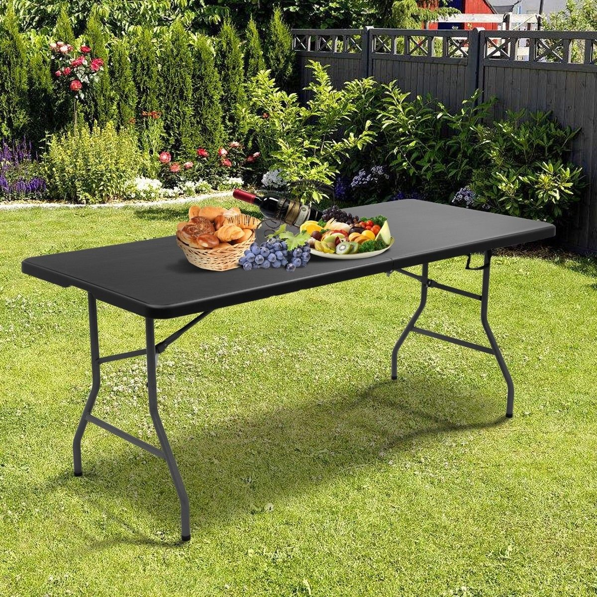 6 Folding Portable Plastic Outdoor Camp Table Plastic Picnic Tables Folding Table Camping Table