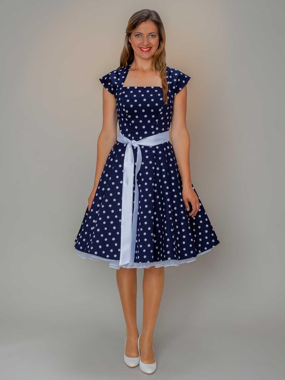 Petticoat Kleid Outfit Josy Nacht Blau Weiss Mit Bildern Outfit Coole Kleider Kleider