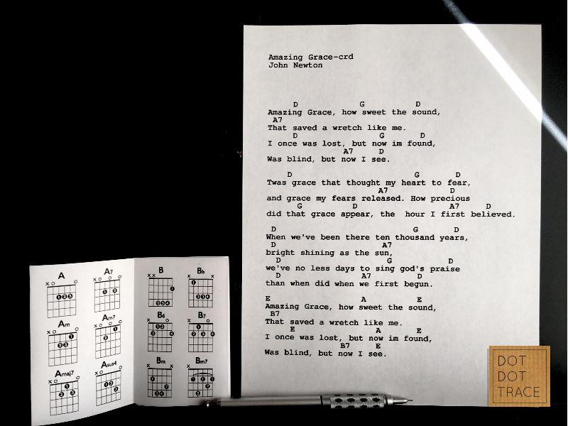 Portable Essential Guitar Chord Mini Book Printable Guitar Chord