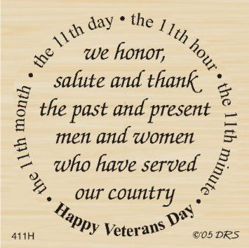Veterans Day Quotes Amazon Veterans Day Greeting Rubber Stampdrs Designs Arts .