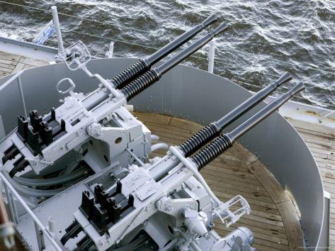 Anti-Aircraft Guns on the Battleship USS MassachusettsBy Tim Laman