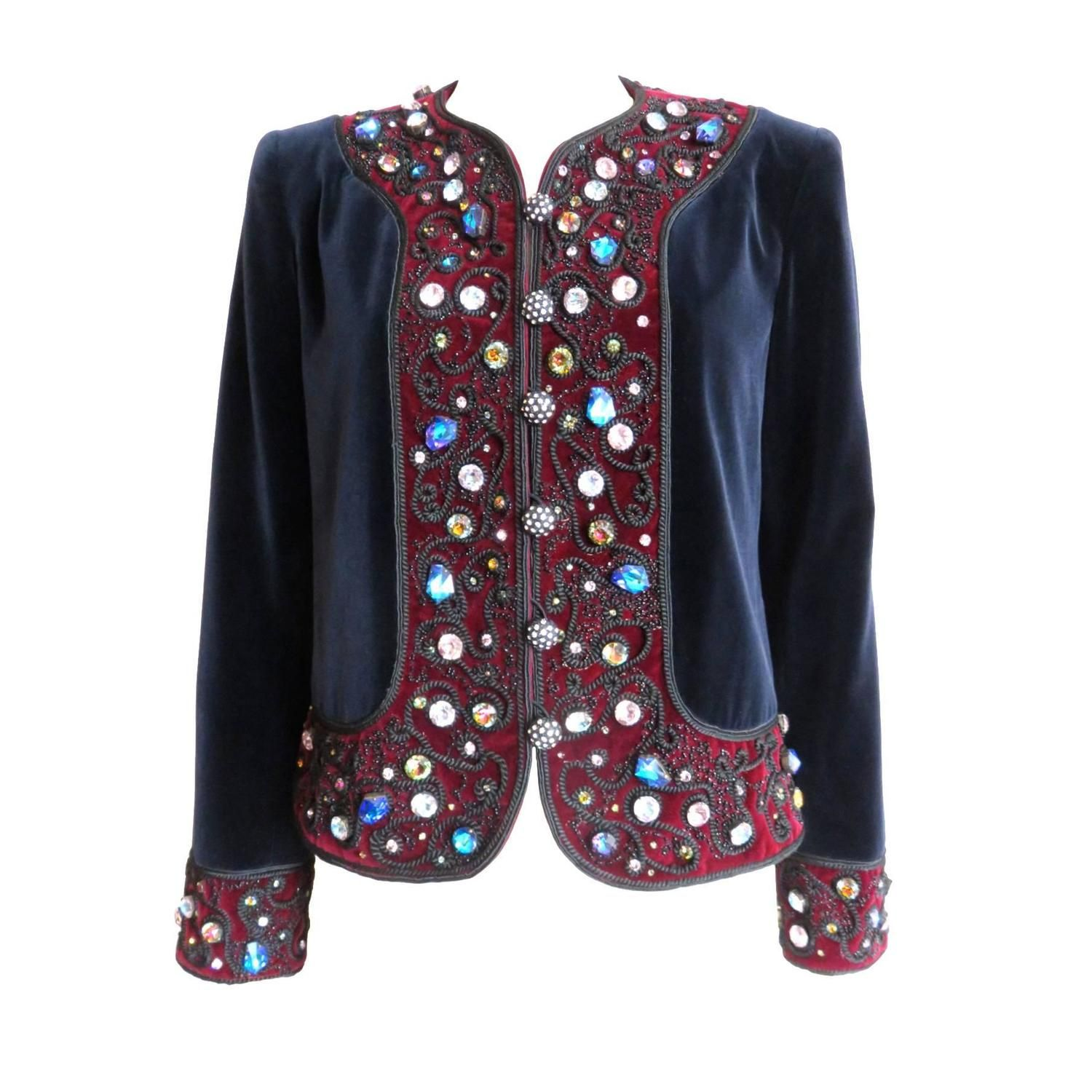 bf20e78a7ea 1984 YVES SAINT LAURENT Jeweled evening jacket YSL | From a collection of  rare vintage jackets