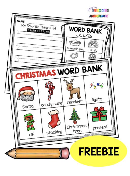 Christmas writing FREEBIE – Santa -…