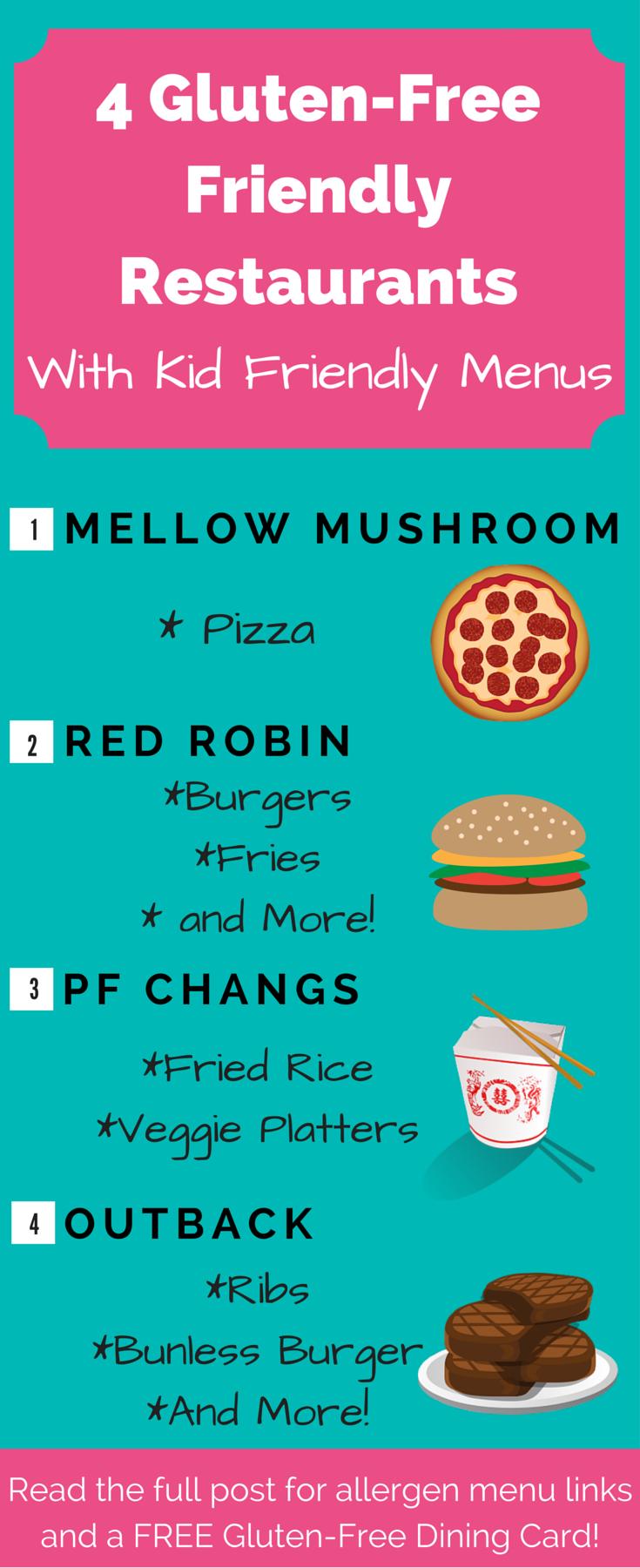4 Restaurants With Gluten Free Kids Meals Gluten Free Recipes For Kids Gluten Free Kids Free Kids Meals