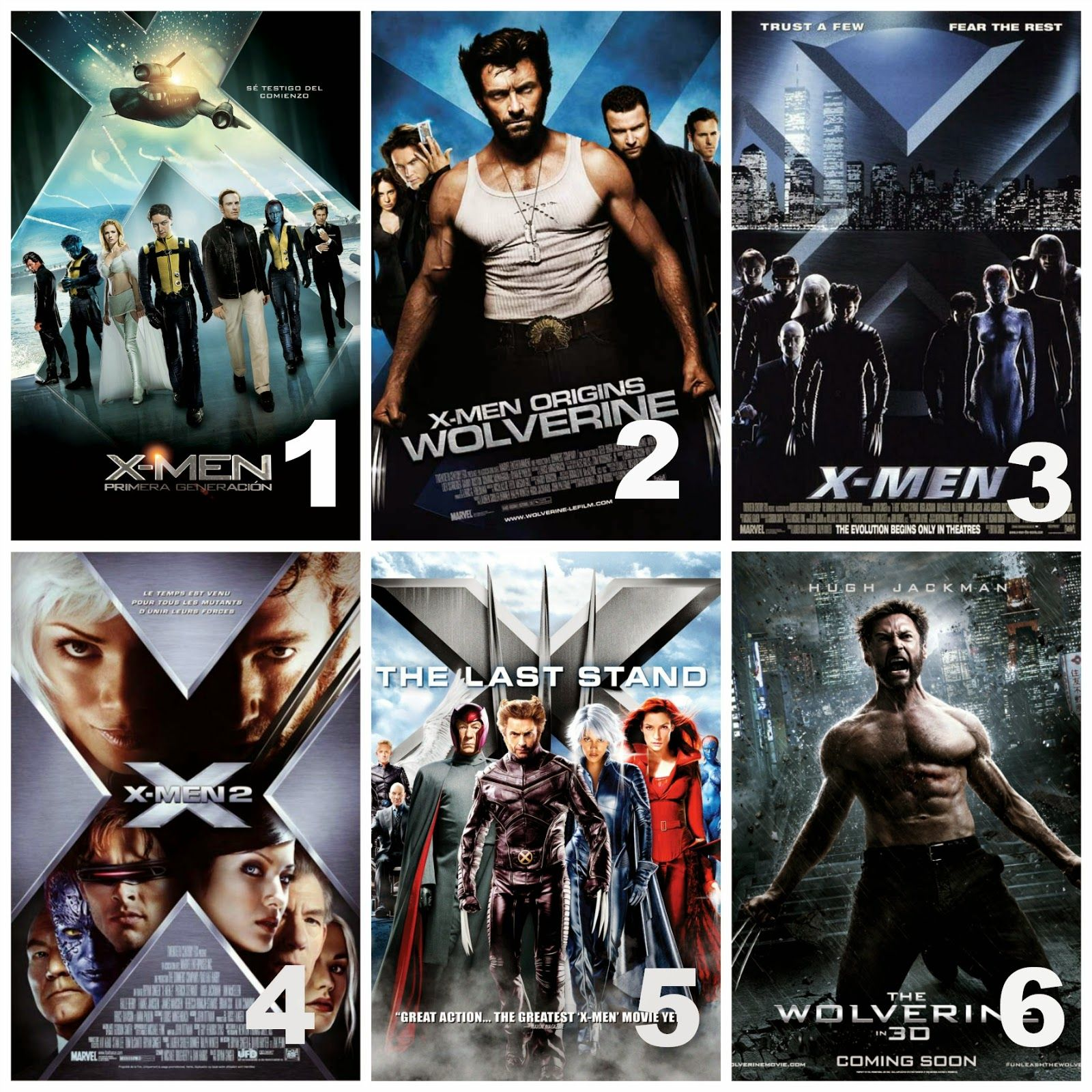 Xmen movies in chronological order Marvel avengers