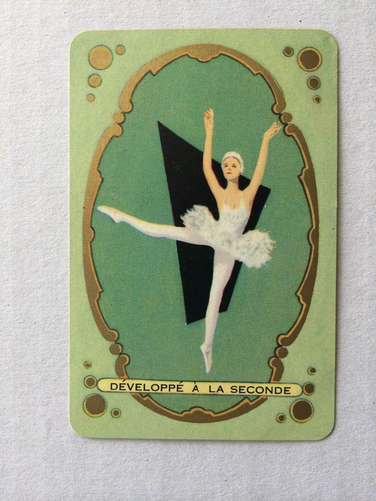 Playing Cards 1 Single Swap Card Vintage BALLERINA GIRL Dancer BALLET Dancing 2