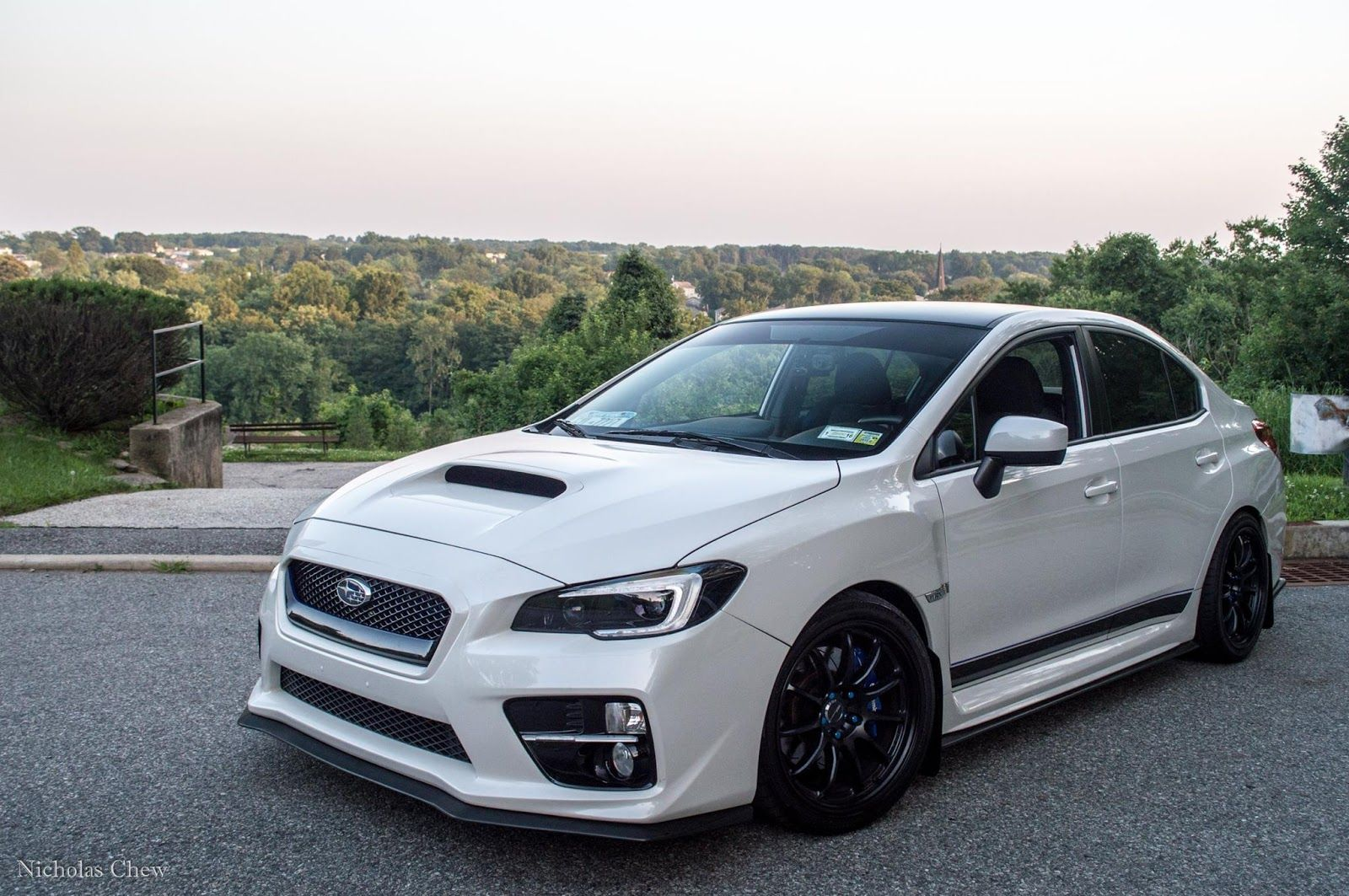 Clean Looking White Subaru Wrx 2017 W Nice Alloy Rims Check It Out Subie Gallery