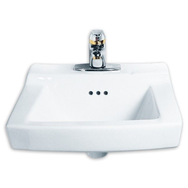 American Standard White Porcelain Comrade Wall Hung Single Basin