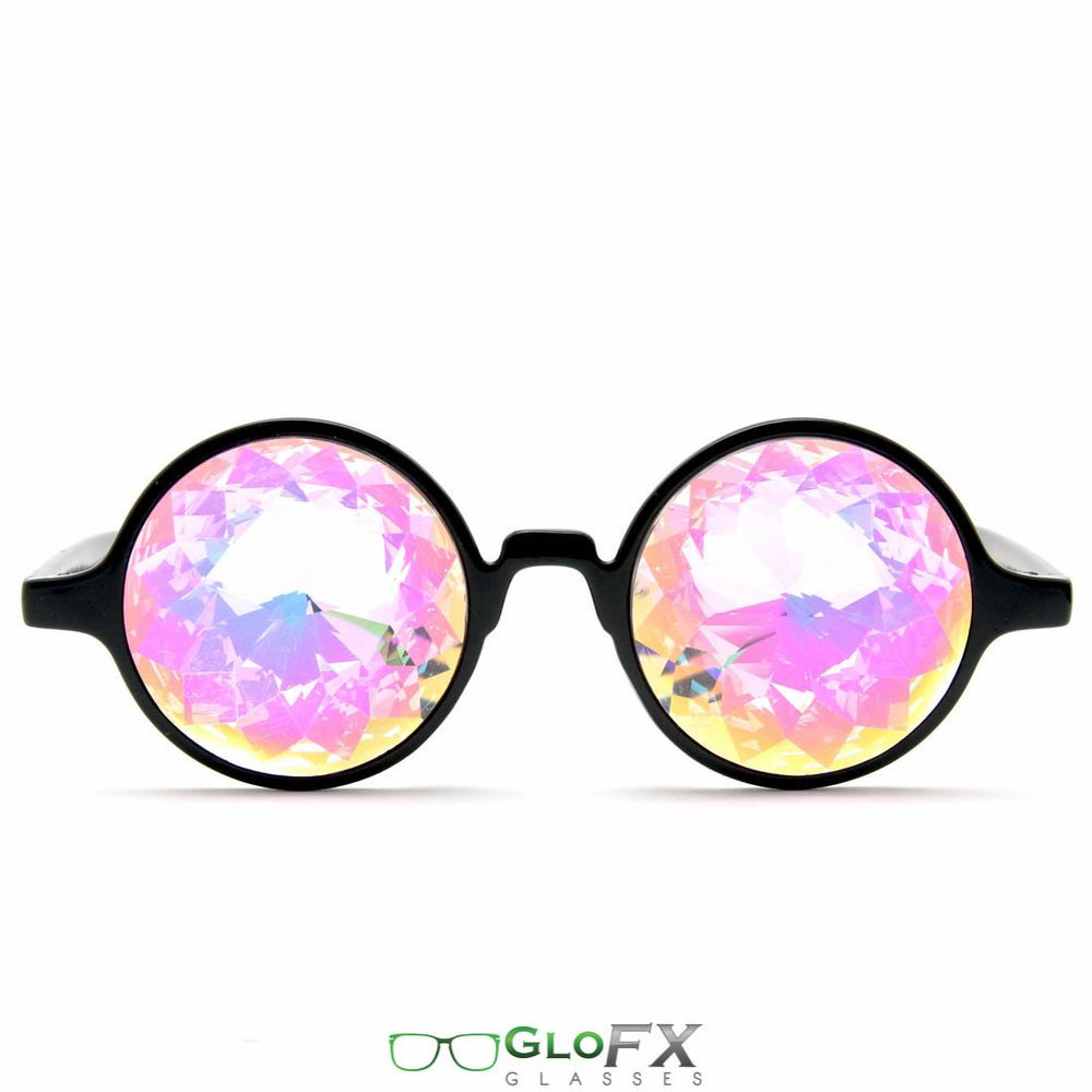 Kaleidoscope Glasses Rainbow Crystal Rave EDM Dance Party Diffraction Sunglasses