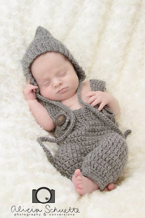40b12060e408 Newborn Photo Prop, Pixie Bonnet, Pants with Suspenders, Baby outfit,  Overalls, Newborn, Baby Boy, G