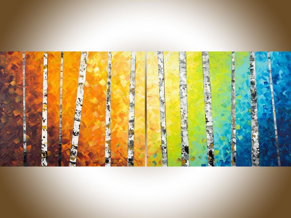 Autumn Birch Trees II by QIQIGallery 54\