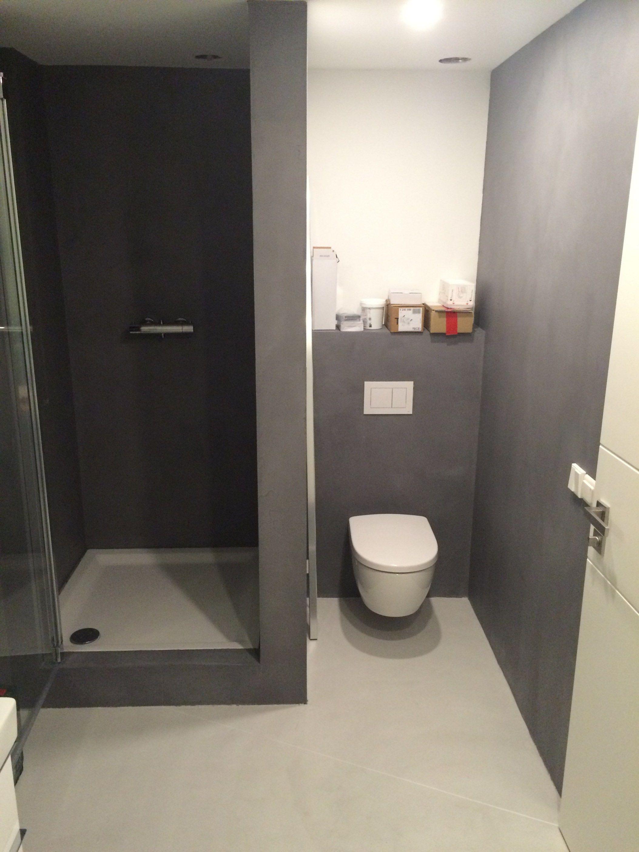 Beton Ciré douche en toilet Delft - Badkamerontwerp   Pinterest ...