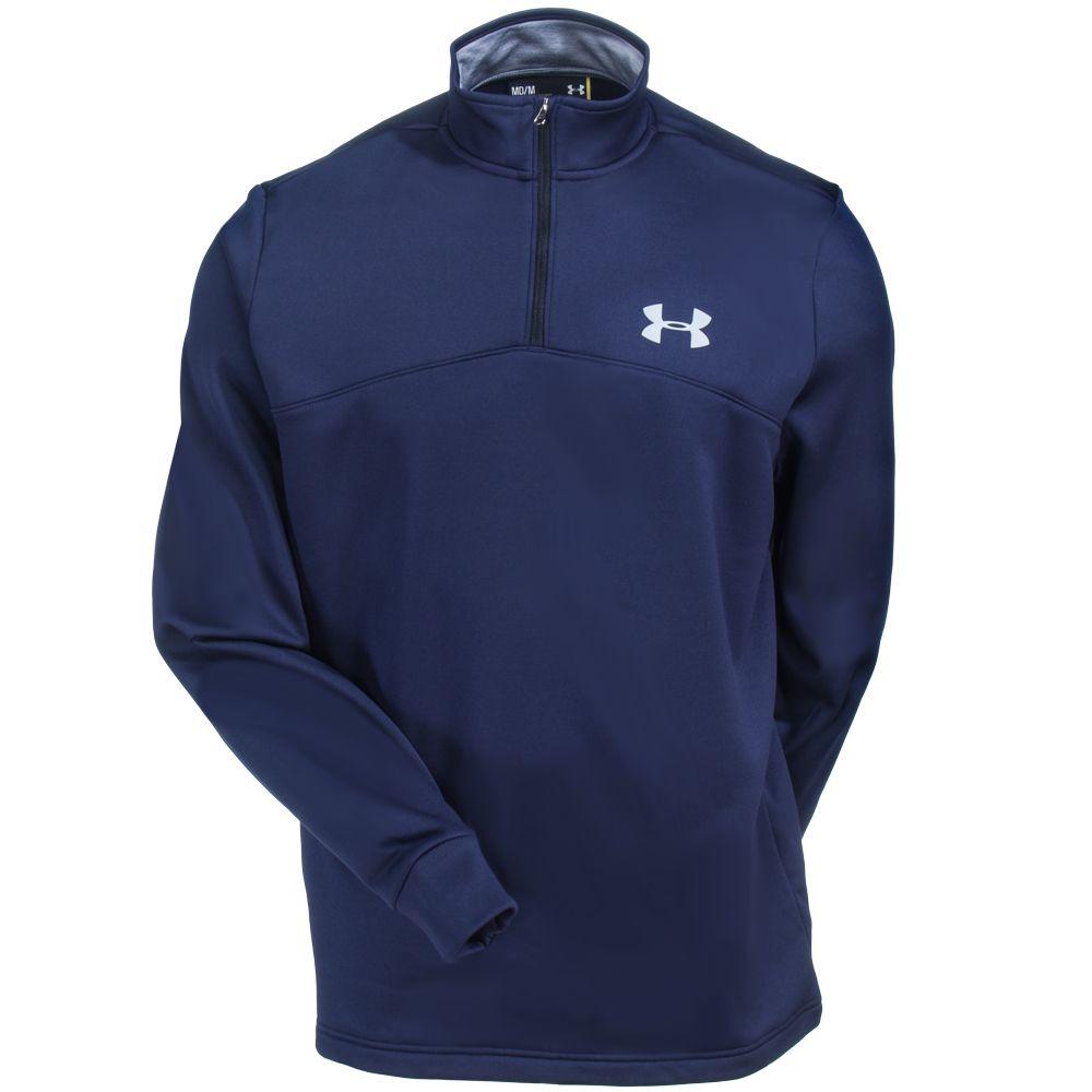 Under Armour Men's 1286334 410 Navy Blue Storm Icon 1/4 Zip Shirt