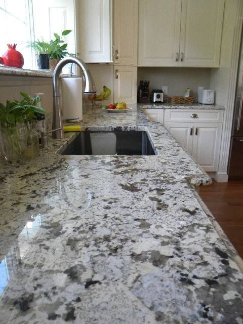 Alaska White Granite Countertops With Ogee Edge The