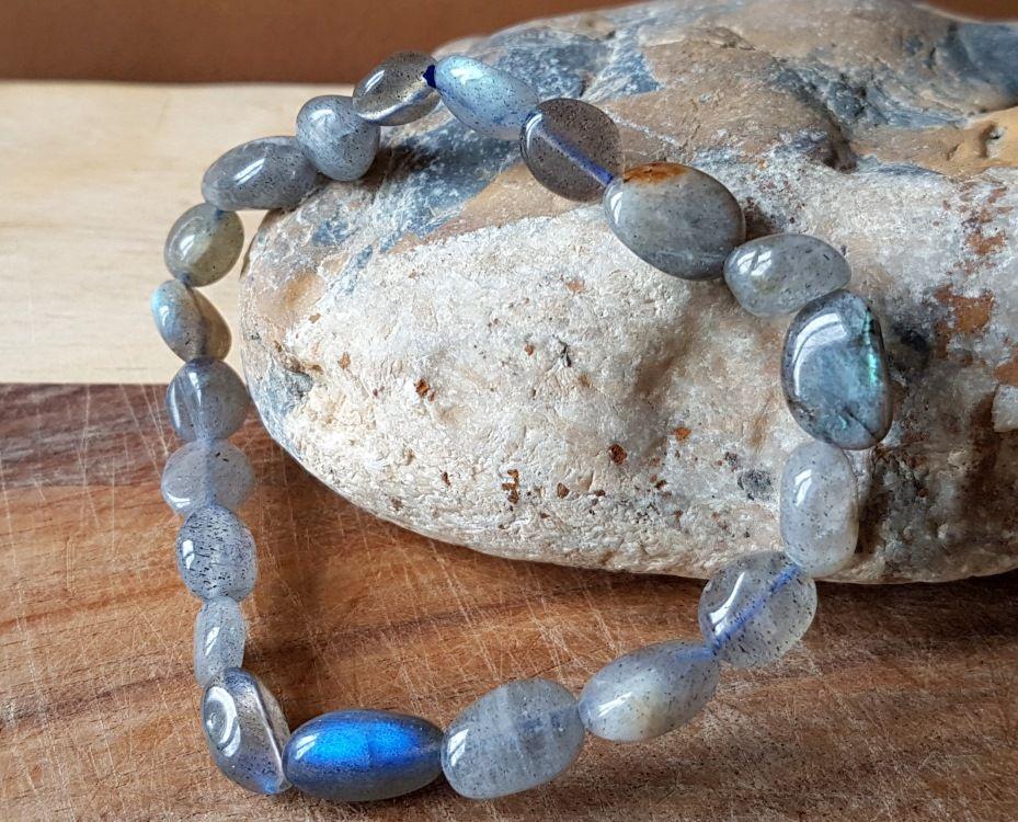 Labradorite Pépites Pierre Précieuse Bracelet Cristal