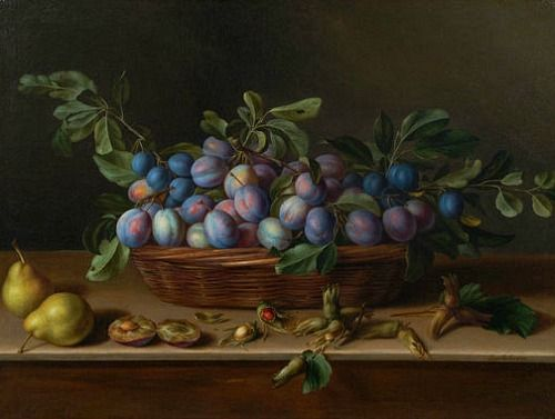 Still Life with Plums and Hazelnuts by Louise Moillon, 17th century