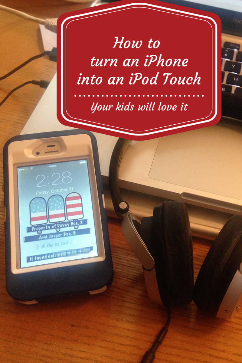 Turning your old iPhone into iPod for the tinyhuman. I