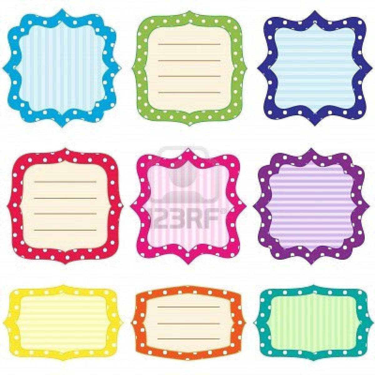 free printable polka dot name tags the template can also be used