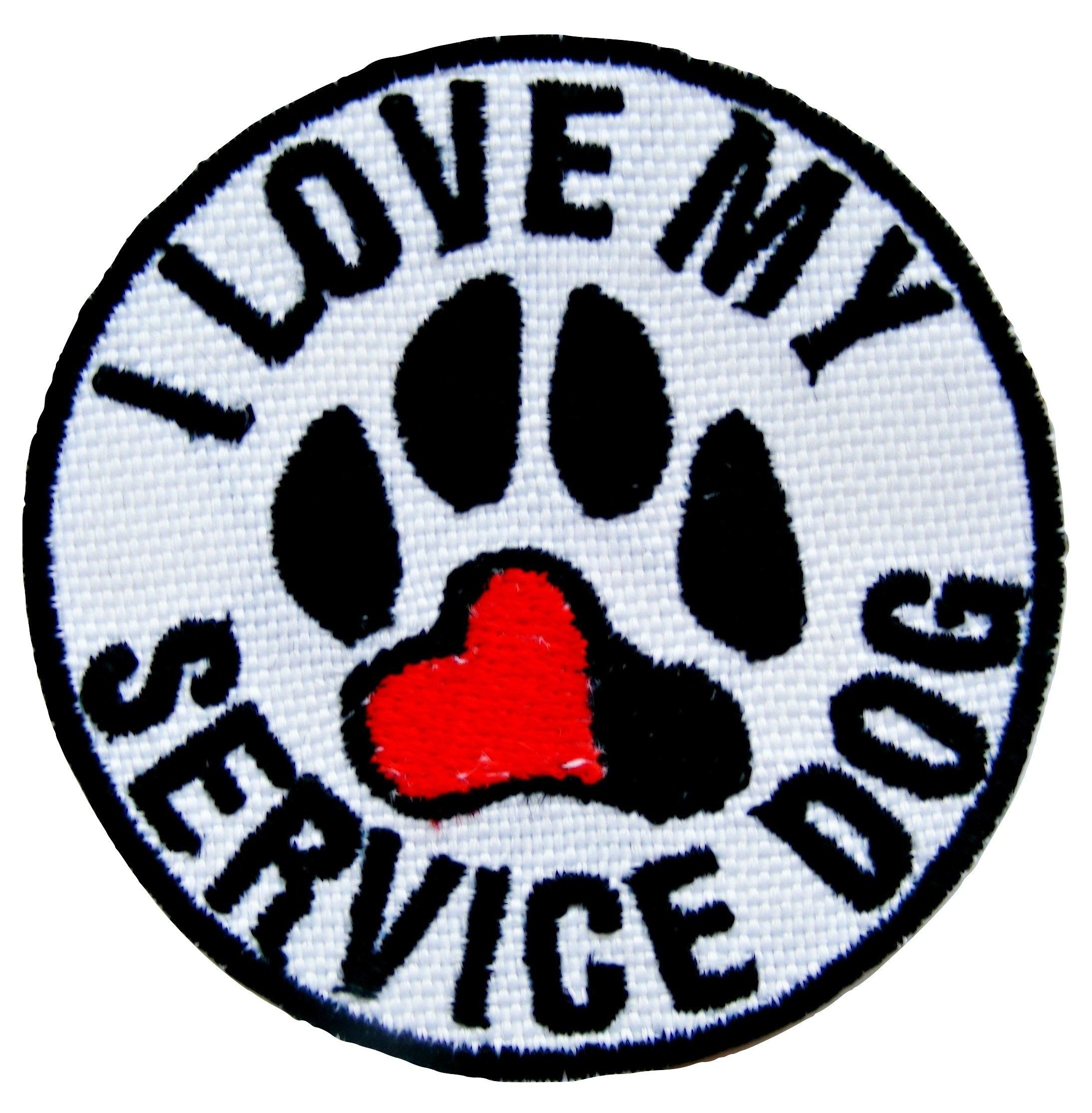 Personalised Paw Love Service Dog Name Embroidered Patches Iron On Badge Patches for Jacket Applique Patches for jeans Sale Free Delivery