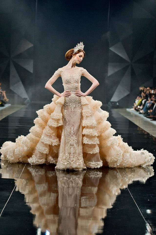 michael cinco over the top wedding dress