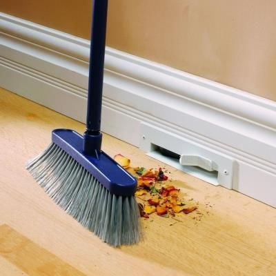 Vacuum system in the wall, all the dirt gets sucked to a central location. Insanely Clever Make Over Ideas For Your New Home.