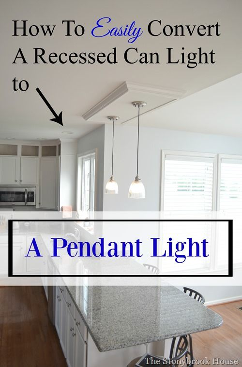 recessed lighting to pendant. How To Easily Convert A Recessed Can Light Pendant Lighting N