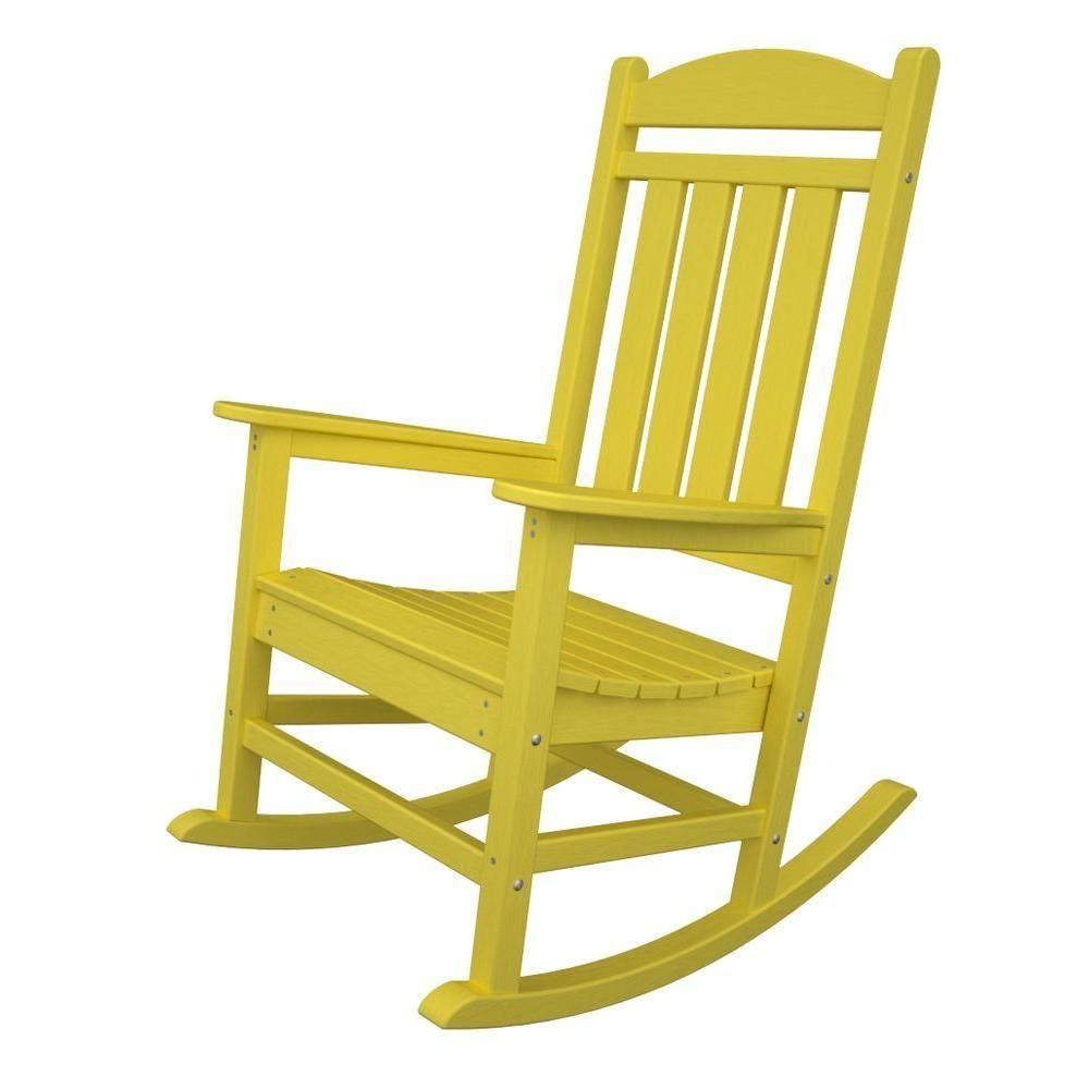Polywood Presidential Lemon Patio Rocker Products Furniture