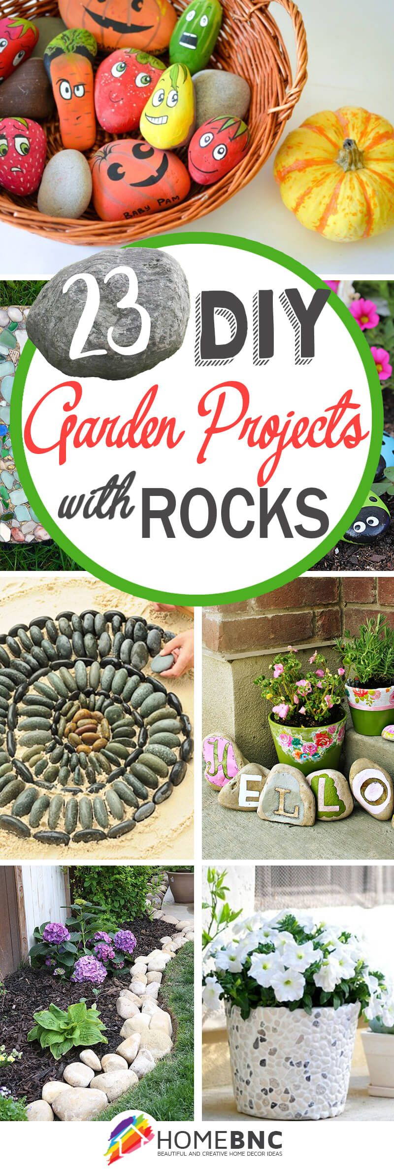 23 Fun Diy Garden Projects With Rocks Galets Manualidades