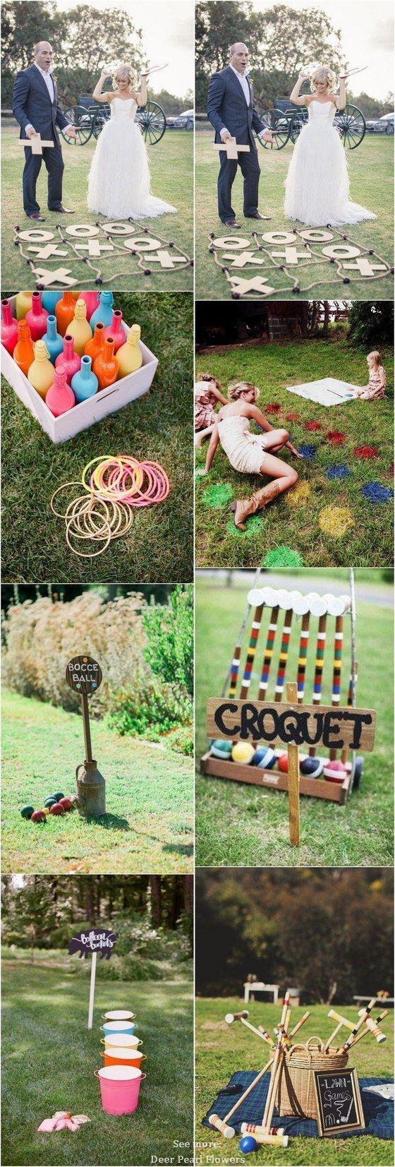45 Idées amusantes de jeux de pelouse pour une réception de mariage en plein air #Gratuit #Réception de mariage # …
