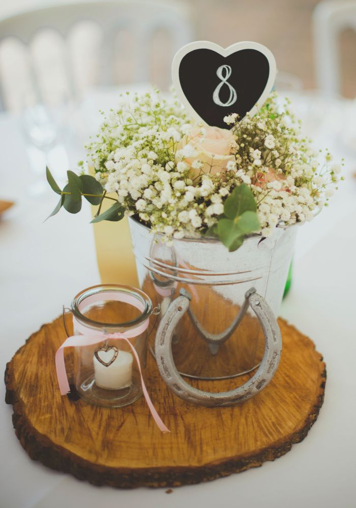 Rustic Wedding Details Horseshoe Table Centre Photography By