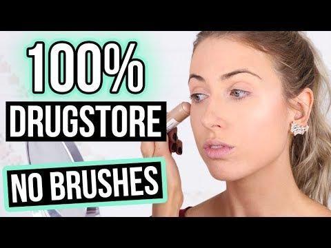 beginner makeup tutorial new  100 drugstore  no