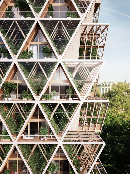 Gallery of Precht Designs Timber Skyscrapers with Modular Homes and Vertical Farming - 5